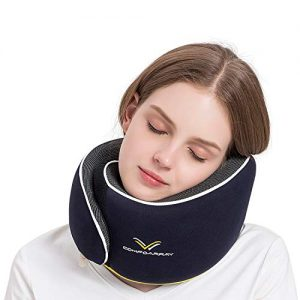 ComfoArray Travel Pillow, Neck Pillow for Airplane and Car. New Upgrade in 2019,Wider Adjustable Range, Suitable for Everyones Size. Enhanced Front Support Effect.A Whole Set of Travel Kit.